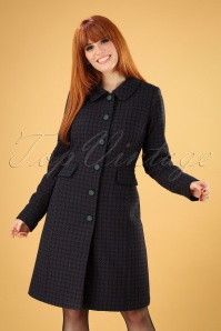 60s Nathalie Darby Coat in Autumn Blue
