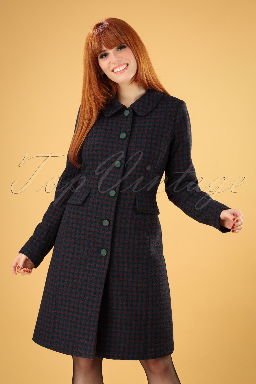 1960s Style Dresses, Clothing, Shoes UK 60s Nathalie Darby Coat in Autumn Blue £157.49 AT vintagedancer.com
