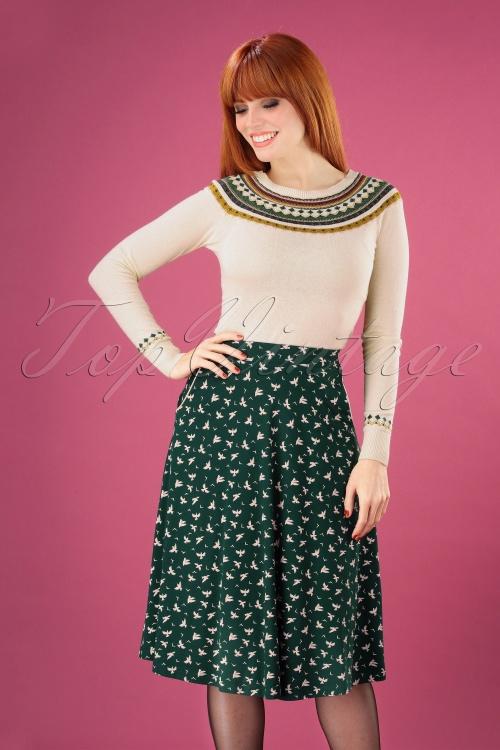 King Louie 29409 60s Sofia Pine Green Bird Skirt 20190620 040MW