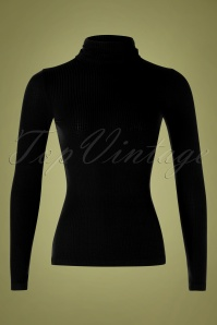 King Louie 29398 Top Rollneck Brunette Black Tencel Rib 20190711 0002W