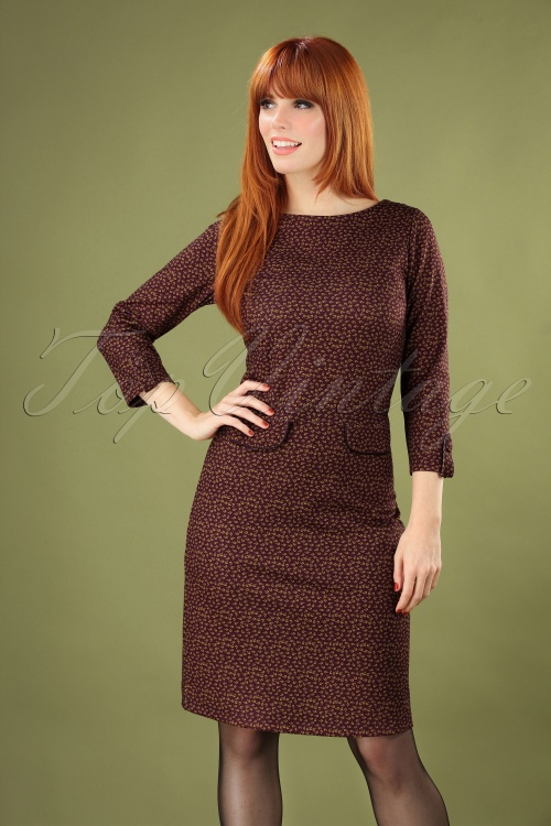 Le Pep 30019 Babeau Dress in Wine red 20190801 040M copyW