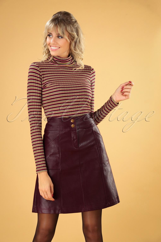 60s Skirts | 70s Hippie Skirts, Jumper Dresses 60s Bracha Skirt in Winetasting £79.36 AT vintagedancer.com