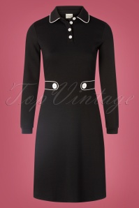 60s There She Goes Dress in Black