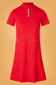 Pure Joy Dress Années 60 en Rouge