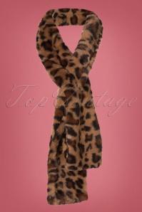 50s Olga Faux Fur Scarf in Leopard