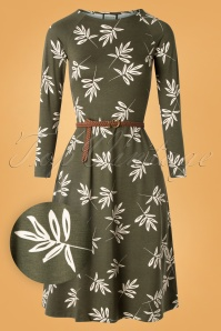 60s Let the Leaves Dance Dress in Green
