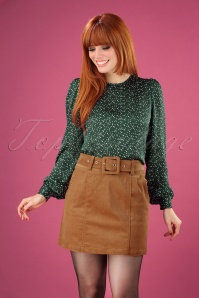60s Amir Cord Mini Skirt in Tan