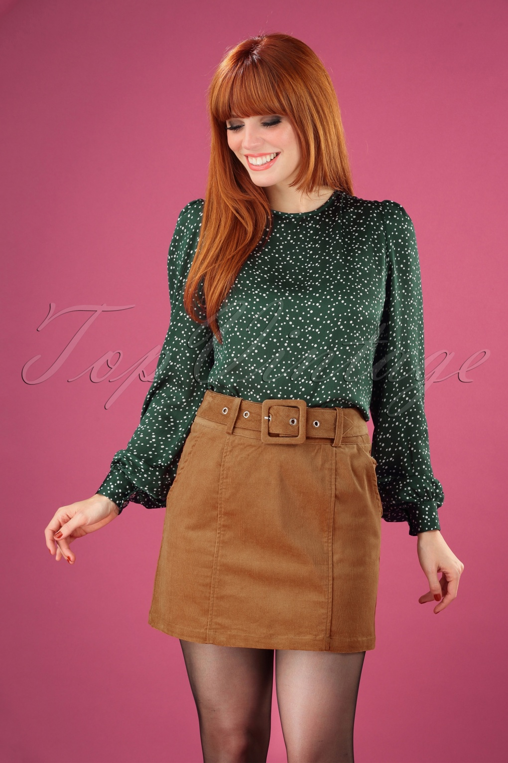 Vintage Inspired Dresses & Clothing UK 60s Amir Cord Mini Skirt in Tan £57.89 AT vintagedancer.com