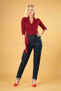 50s Cleo Jeans in Classy Blue