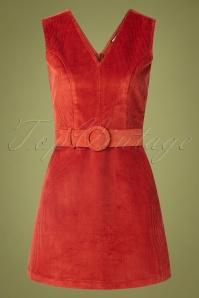 60s Viva La Groove Dress in Rust Red