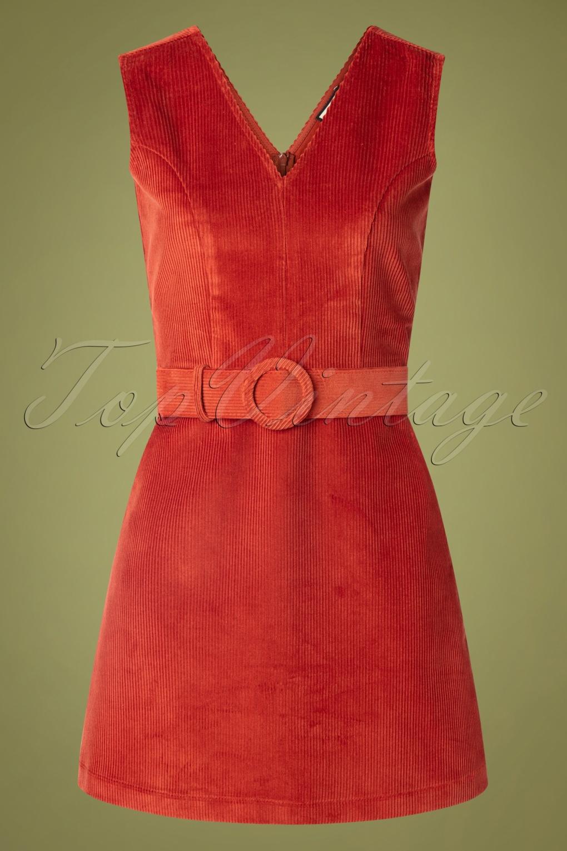 60s Skirts | 70s Hippie Skirts, Jumper Dresses 60s Viva La Groove Dress in Rust Red £65.59 AT vintagedancer.com