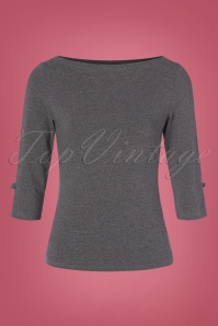 50s Oonagh Top in Grey