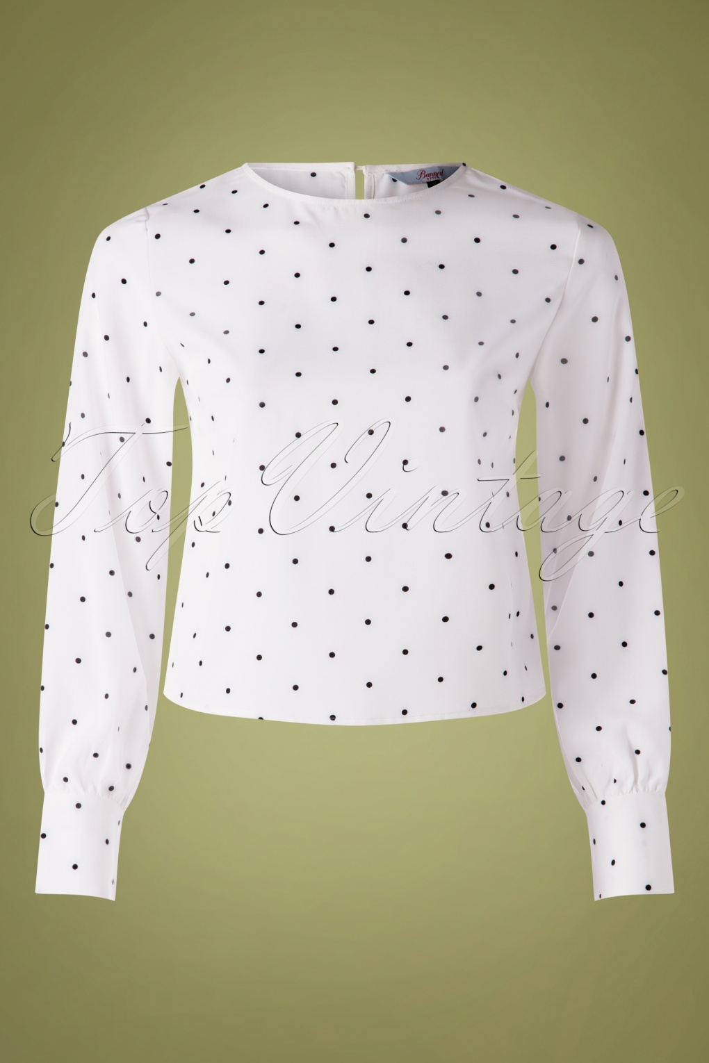 60s Shirts, T-shirt, Blouses, Hippie Shirts 60s Boxy Dot Blouse in White £31.46 AT vintagedancer.com