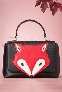 Banned 29238 60's Foxy Flap BAg In Black20190613 029W
