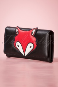 Banned 29239 60's Foxy Wallet Black20190613 011W