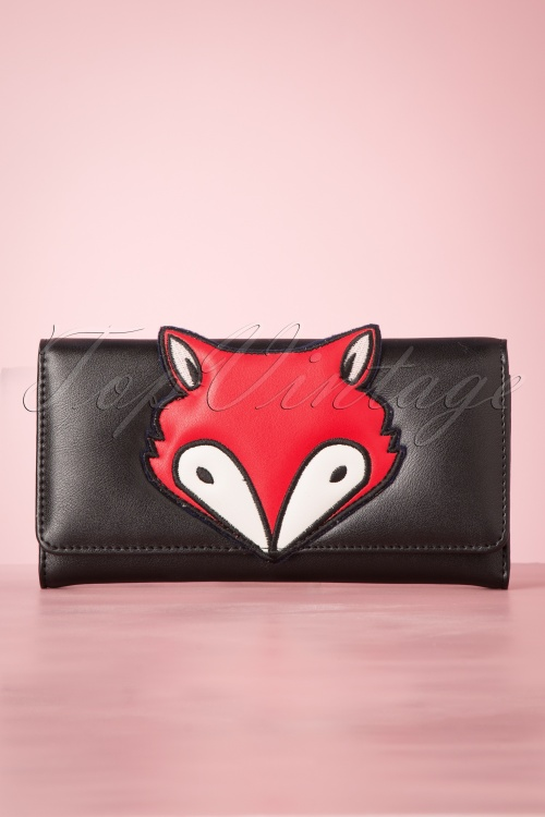Banned 29239 60's Foxy Wallet Black20190613 004W