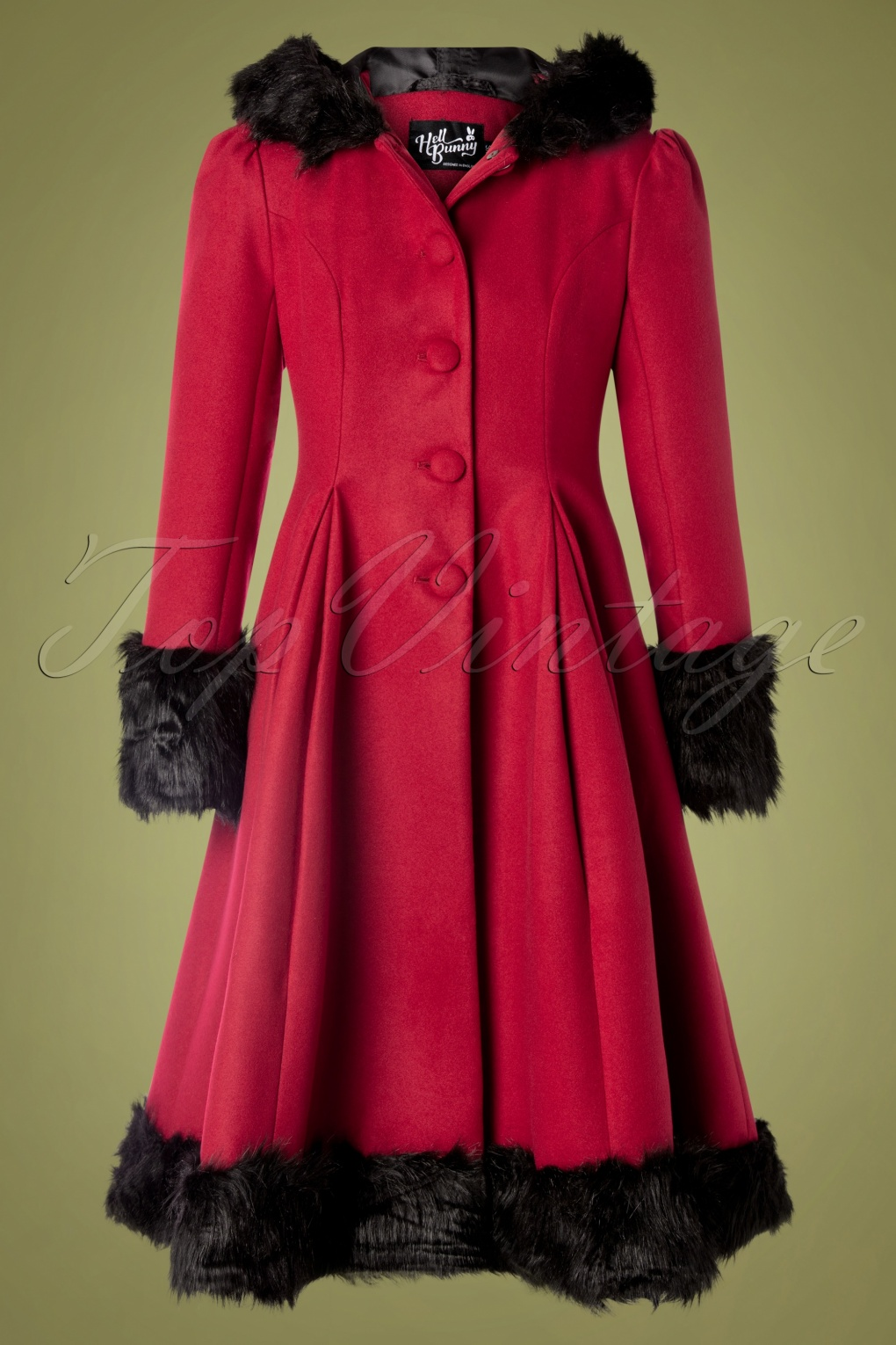 Vintage Coats & Jackets | Retro Coats and Jackets 30s Elvira Coat in Burgundy £122.48 AT vintagedancer.com