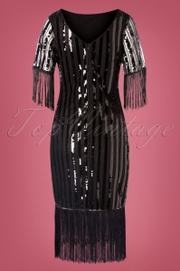 Unique Vintage 29950 Pencildress Black Marcy 08262019 0008W