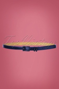 50s Lizzard Belt in Blue