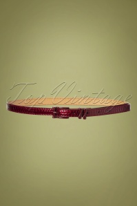 50s Lizzard Belt in Burgundy