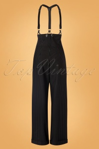 Unique Vintage 29952 Pants Black Thelma Pinstripe 08262019 0006W