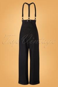 Unique Vintage 29952 Pants Black Thelma Pinstripe 08262019 0006W