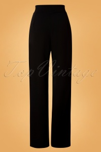 Vintage Chic 31157 Wide Black Trousers 20190827 008W
