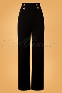 Vintage Chic 31157 Wide Black Trousers 20190827 004W