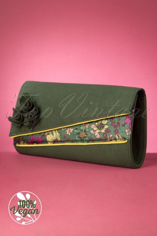 Ruby Shoo 29316 Banbury Clutch Green20190827 004V