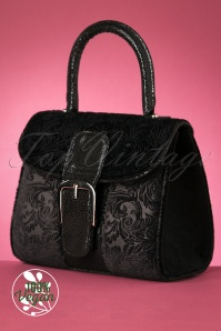 60s Riva Velvet Handbag in Black