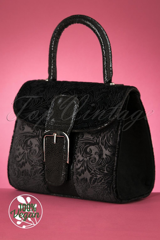 Vintage Handbags, Purses, Bags *New* 60s Riva Velvet Handbag in Black £48.51 AT vintagedancer.com