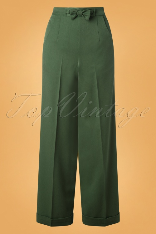 Banned 30674 Hidden Away Trousers in Dark Green 20190527 003W
