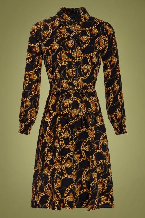 Smashed Lemon 30237 Chain Print A Line Dress 20190820 021LW