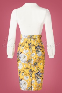 Paper Dolls 30331 2 in 1 Yellow Flower Print Pencil Dress 20190827 008W