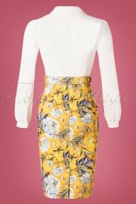 Paper Dolls 30331 2 in 1 Yellow Flower Print Pencil Dress 20190827 008W