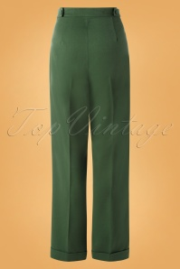 Banned 30676 Party On Trousers in Green 20190529 003W