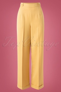 40s Party On Classy Trousers in Mustard