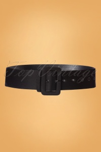 50s Jade Plain Belt in Black