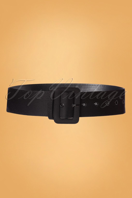 Vintage Wide Belts, Cinch Belts 40s, 50s Belts 50s Jade Plain Belt in Black £11.46 AT vintagedancer.com
