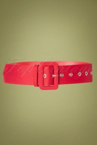 50s Jade Plain Belt in Red
