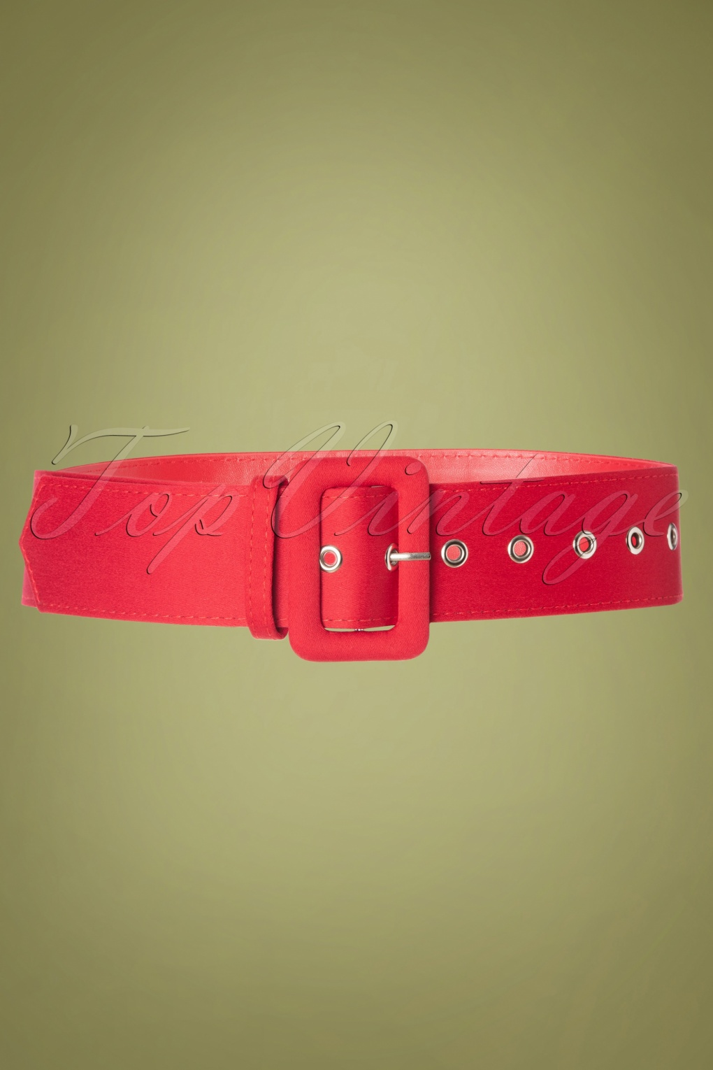 Edwardian Gloves, Handbag, Hair Combs, Wigs 50s Jade Plain Belt in Red £11.04 AT vintagedancer.com