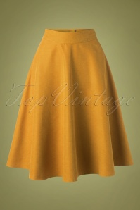 Sally Swing Skirt Années 50 en Moutarde