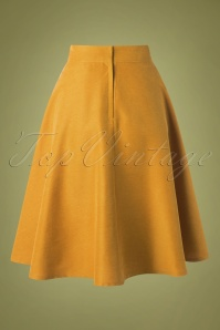 Banned 30679 Sally Skirt in Mustard Yellow 20190529 001W