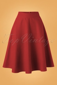 50s Sally Swing Skirt in Lipstick Red