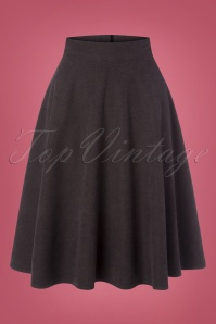 50s Sally Swing Skirt in Grey