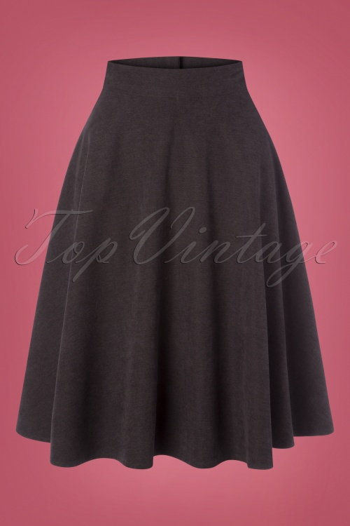 Banned 30681 Sally Skirt in Grey 20190626 003W