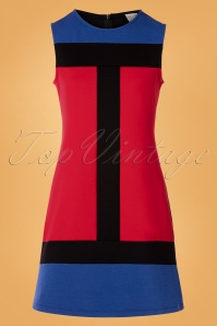 Mademoiselle Yeye 29591 Eve Saint Florence Dress Red Blue Black 20190725 003W