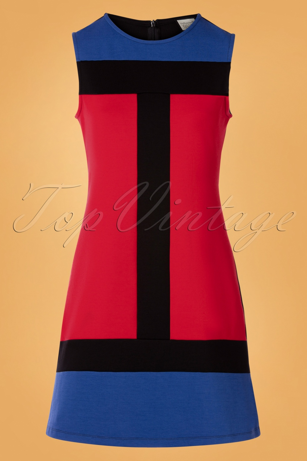 1960s Style Dresses, Clothing, Shoes UK 60s Eve Saint Florence Dress in Red and Blue £83.10 AT vintagedancer.com