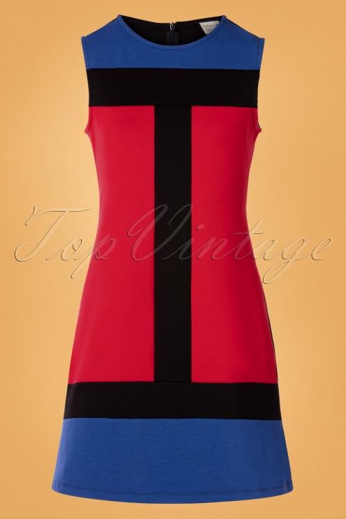 Mademoiselle Yeye 29591 Eve Saint Florence Dress Red Blue Black 20190725 003W