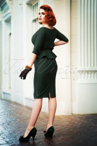 Vintage Diva 29609 Irene Pencil Dress in Green 1W
